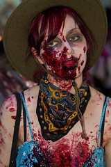 Zombie walk 2011, Vancouver (Eyesplash - Summer was a blast, for 6 million view) Tags: costumes portrait art vancouver portraits dead scary blood gallery faces zombie makeup creepy gore undead monsters zombies guts vag frightening zombiewalk
