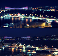 Flu gibi... (morkedi ) Tags: city night turkey landscape bokeh trkiye istanbul bosphorus sleymaniye iftar kpr boaz ramazan gece manzara 50mmf14d ehir morkedi nikond90 aakaps morkedi