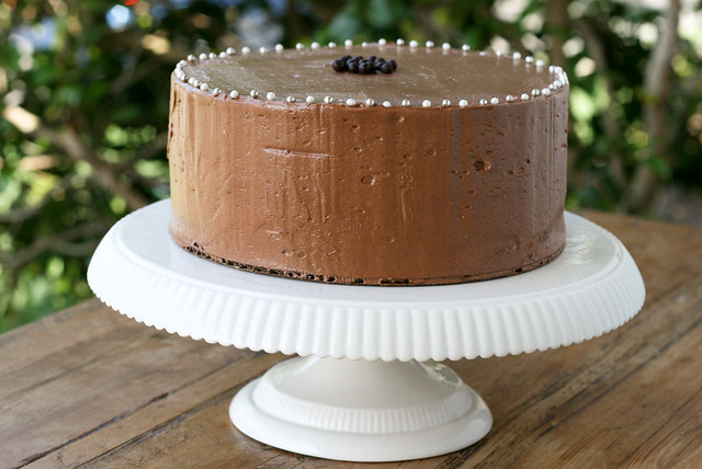Yellow Birthday Cake With Fluffy Chocolate Ganache Frosting Recipes ...