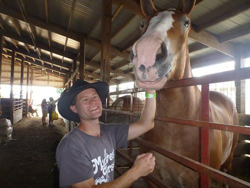 Me With Draft Horse at Horse Days 2011