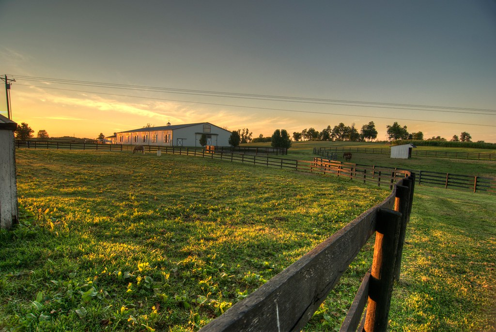 Horse Corrals at Sunset