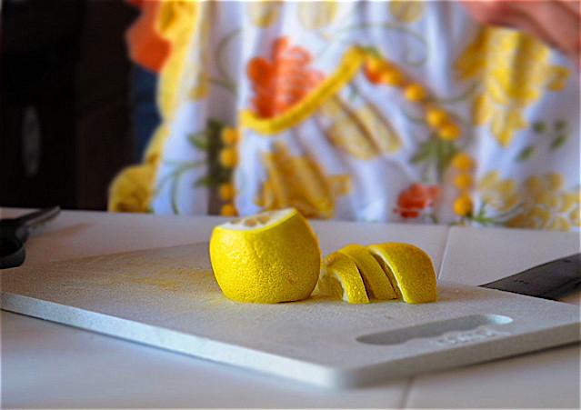7. sliced lemons