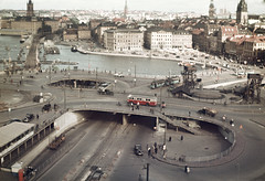 Slussen area in Stockholm, Södermanland, Sweden (Swedish National Heritage Board) Tags: city urban bus buildings town traffic stockholm schweden transportation stadt slussen roads ram verkehr buss strase riksantikvarieämbetet theswedishnationalheritageboard