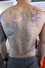 Tattooing by Daniel Innes - in progress (pearlharborgiftshop) Tags: tattoo backpiece tattooing japanesetattooing danielinnes pearlharborgiftshop