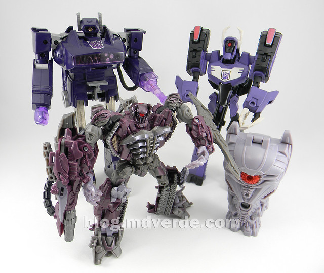 Transformers Shockwave G1 - modo robot vs otros Shockwaves