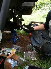 Install spindle (jaffachamps) Tags: summer jeep disk swap brakes disc upgrade mitsubishi 2011 cj3b j54