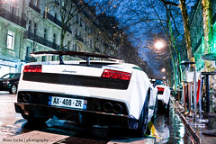 Lambo Night (Keno Zache) Tags: auto paris france car by night canon photography eos hp frankreich power shot nacht engineering automotive super ps reiter sound lp vs bild lamborghini luxury exhaust gallardo spoiler combo sportcar keno sportwagen trofeo superleggera 5704 5604 400d zache