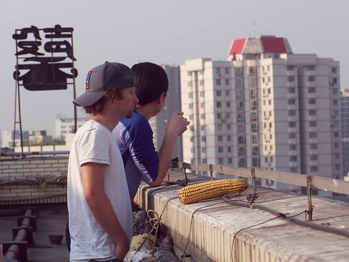 DEA36271 Eric and Szu-ting on the rooftop of our hotel in Chengdu