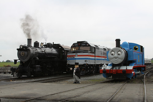 Amtrak and steam locos and Thomas the Tank Engine