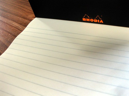Inside of new R by Rhodia No.16 tablet, close-up