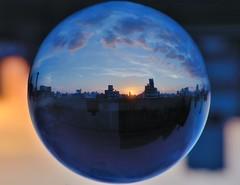 """La esfera urbana (invertida) (2)"" (Marcelo Savoini) Tags: city ball nikon crystal sphere urbana bola cristal flipped esfera invertida 105mmmicrovr d7000"