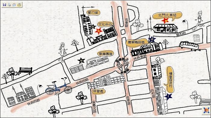 檜意森活村平面圖