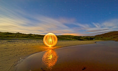 Traigh Mhor Orb [Explored] (Colin Cameron ~ Photography ~) Tags: longexposure nightphotography lightpainting scotland orb flashlight isleoflewis lenser sherelight