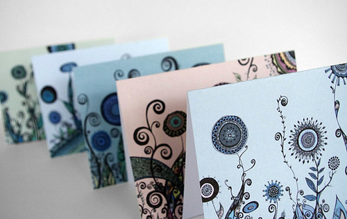 swirl notecards