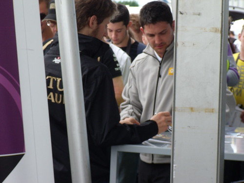 Romain Grosjean signing autographs