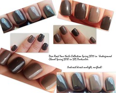 Dior in 824 Underground & Chanel in 505 Particulir (easybeauty-LJ) Tags: chanel limitededition dior browncolor shortnails