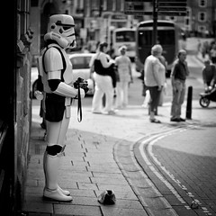Recession (MMortAH) Tags: street york bw white black square 50mm starwars nikon yorkshire 14 north explore scifi stormtrooper nikkor d90