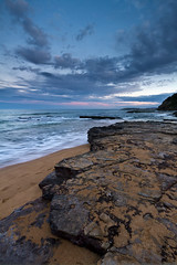 """Edge"" - Warriewood Beach (Luke Peterson Photography) Tags: colour water waves dusk washing canon7d rockwarriewoodbeach"