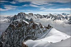 overlooking the alps (heavenuphere) Tags: chamonixmontblanc chamonix rhônealpes hautesavoie france téléphériquedelaiguilledumidi aiguilledumidi montblanc massif mountains alpes alps snow clouds alpine climbing landscape 1022mm gi 25