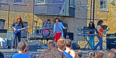 Journey Cover Band (tacosnachosburritos) Tags: street party summer chicago festival dancing market days journey transvestite trans swimsuit crossdresser halsted