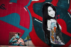 ZHE155 with Claire Pinatel in Sweden (Malm) (Urbanhearts) Tags: sweden malm clairepinatel urbanhearts streetartwithoutborders zhe155