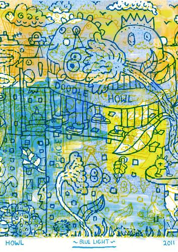 Blue Light by Howl's Illustration