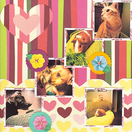 scrapbook page - pets