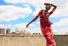Life At the Top (L'Autre Magazine) (Artemis Arthur) Tags: new york roof light sky woman motion black fall rooftop girl beautiful fashion skyline photography movement model photographer natural outdoor african harlem style ambient editorial styled