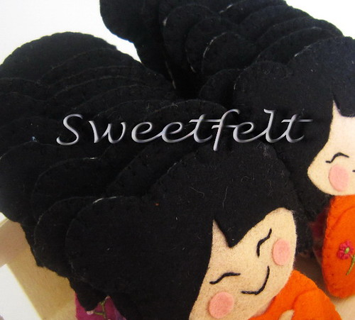 ♥♥♥ Gueixanoskas!!! by sweetfelt \ ideias em feltro