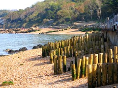 stumped for a place to walk. (ronsaunders47) Tags: beach coast seaside seashore cowes gurnard