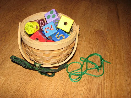 Lacing Activity Basket (Photo from Jada Roo Can Do)