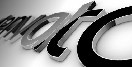 Black Classic 3D Logo - 1