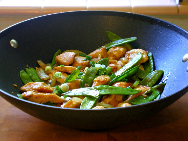 Chicken Stir-Fry with Snow Peas