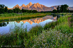 Serenity (James Neeley) Tags: sunrise landscape tetons hdr grandtetonnationalpark gtnp schwabacherslanding 5xp jamesneeley