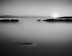 Mercury Rising (kenny barker) Tags: bw water monochrome sunrise river landscape dawn scotland still fife estuary forth ripples minimalist culross magicpix coastuk paololivornosfriends saariysqualitypictures panasonicg1