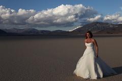Racetrack Bride (ScottHampton) Tags: california blue wedding portrait sky cloud clouds landscape outside desert outdoor bluesky californiadesert racetrackplaya
