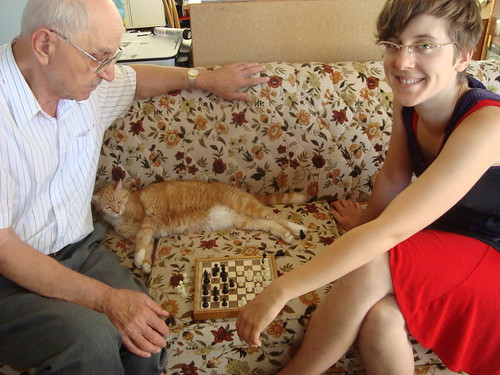 grandpa and eden playing chess