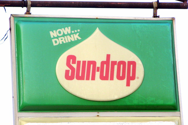Old (but not that old) Sundrop sign