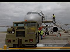 Bye Bye Melbourne (ralphb58.) Tags: tarmac plane airport engine australia melbourne victoria luggage passengers crew jetengine vehicle vic jetstar runway tow avalon airbusa320 avalonairport towvehicle gatewaytomelbourne
