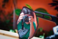 (Isai Alvarado) Tags: street camera portrait selfportrait cinema man blur guy film beach me pool wall movie bathroom mirror back nikon focus mine doors dof arms bokeh fingers longhair 85mm tshirt cine cinematic d80 i