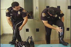 Cops puttin their boots on (TBTAOTW2011) Tags: black men leather boot worship uniform shine boots domination police polish lick cop academy abuse prisoner dominant humiliation ridingboots tallboots bootlick