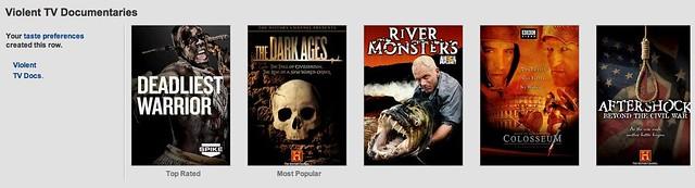 Violent TV Documentaries