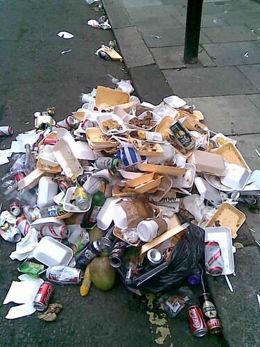 notting hill rubbish