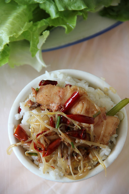 Bowl of Sichuan Style Fish and Rice