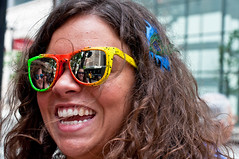With a little help from my friends (zeezodean) Tags: street portrait urban chicago reflection smile sunglasses happy illinois nikon downtown emotion candid feather citylife streetphotography theloop humancondition chicagoist d90 citypeople streetportraiture zeezodean deangolemis