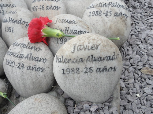 Some of the 70,000 victims of the interrnal armed conflict