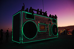 boombox art car (hep) Tags: man art car fireworks burningman blackrockcity burning burn brc boombox artcar blackrock 2011 burningman2011