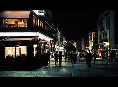 Streets of Plovdiv (Marto Marchev) Tags: street night lights handheld f18 cinematic notripod plovdiv