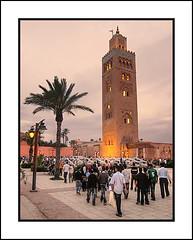 Koutoubia Mosque Minaret, Marrakesh (Joseph Molinari) Tags: africa travel holiday tourism nikon minaret tourist morocco maghreb marrakesh marruecos  d90 redcity  koutoubiamosque   nikkor18105vr mygearandme mygearandmepremium murakuc