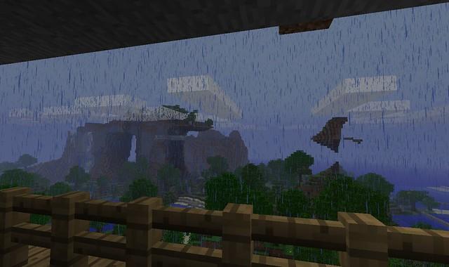 La vue depuis le balcon… par temps de pluie !